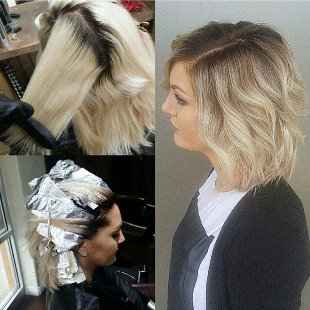 """""""Before, during and after with Kirsten! Bringing down platinum roots is always a challenge. This required 3 separate formulations. And more time than you…"""""""