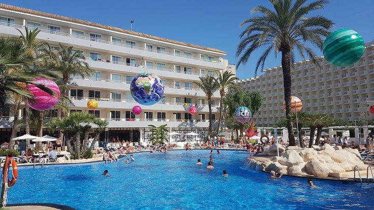 A Hotel Pool in Magaluf Majorca Spain