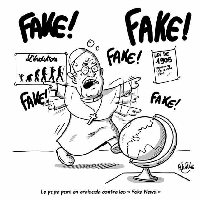 Nâwâck (2018-01-29) Vatican:   Le pape part en croisade contre les fake news... mais lesquelles ?!