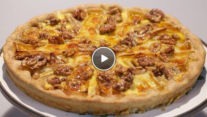 Perenbrietaart met walnoten en honing - Rudolph's Bakery   24Kitchen