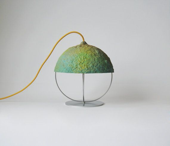 Desk lamp Bellota Spring made from paper pulp and by CreaReDesign