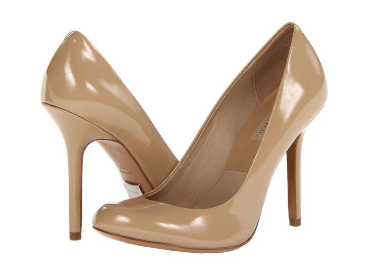 Michael Kors Collection Lakelyn Dark Nude Patent Leather Heels ...