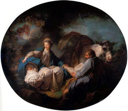 Jean-Honoré Fragonard - descanso en la huida a egipto
