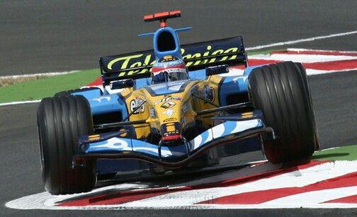 2005 world champion Fernando Alonso in a Renault