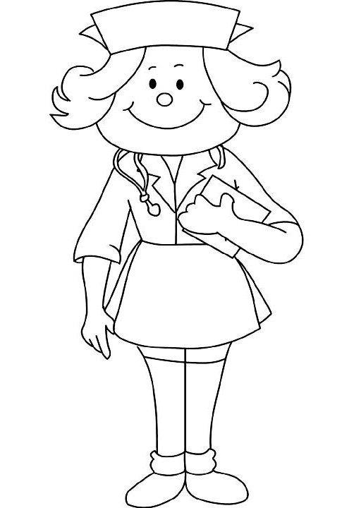 school nurse coloring pages