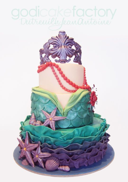 Glass Scuba Mermaid Cake Topper