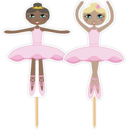 Ballerina prikkers, voor cupcakes en andere traktaties!