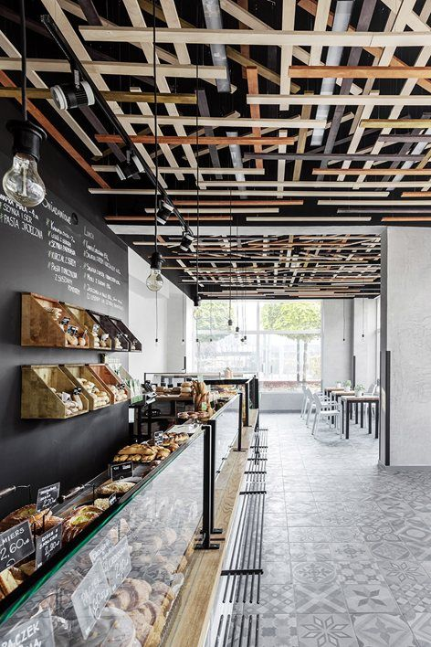 ... Piekarnia bakery build upon the idea created for the entire chain in  2013 by Maciej Kurkowski, founder of Five Cell design group. Each of the  interiors ...