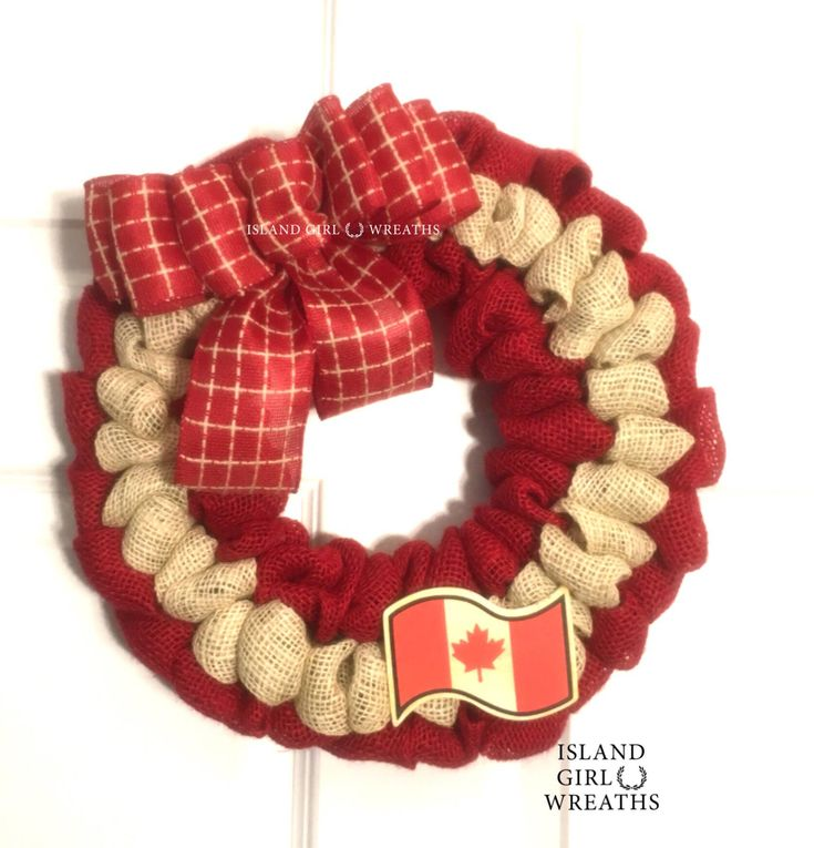 A personal favorite from my Etsy shop https://www.etsy.com/listing/597487597/canada-day-wreath-canadian-patriotic