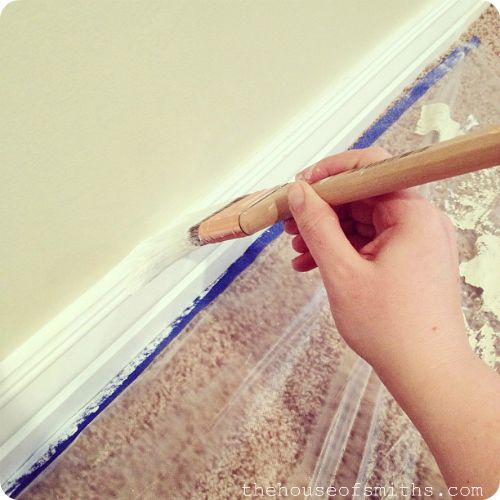 The 3 Key things to remember when painting baseboards!   The House of Smiths - Home DIY Blog - Interior Decorating Blog - Decorating on a Budget Blog