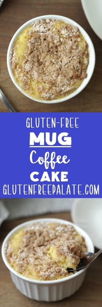 A tender gluten-free coffee cake ready in minutes.