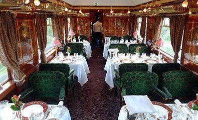 VSOE's Etoile du Nord restaurant car interior