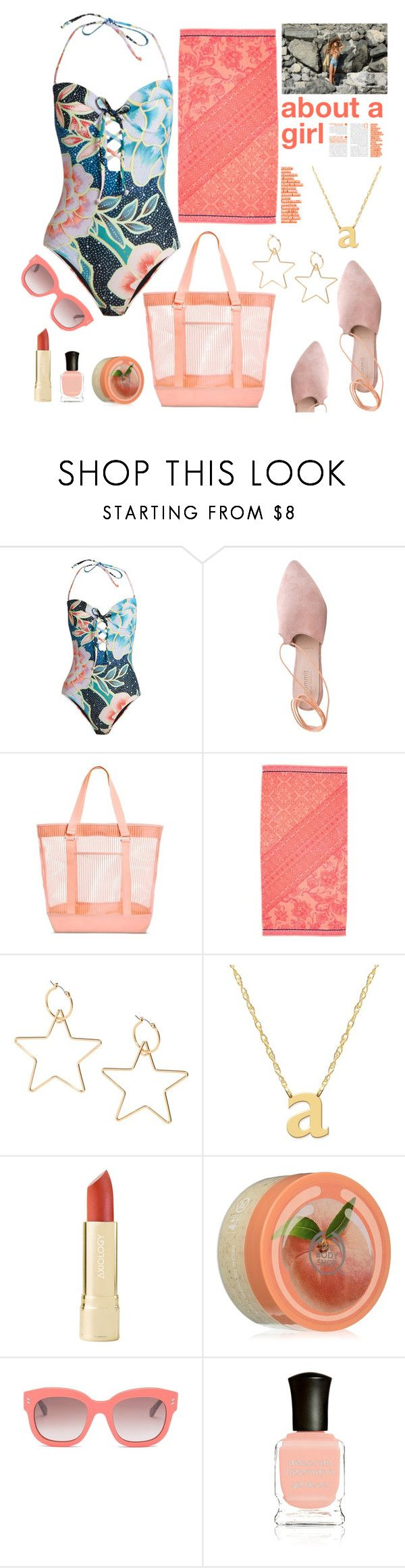 """about a girl"" by felicitysparks ❤ liked on Polyvore featuring Mara Hoffman, Summit, Jane Basch, The Body Shop, STELLA McCARTNEY and Deborah Lippmann"