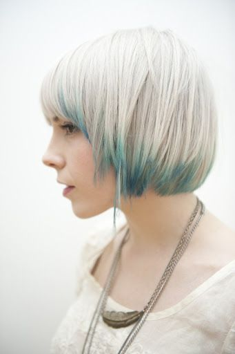 pretty cool haircut: Hair Ideas, Bobs Haircuts, Dips Dyed, Dips Dyes, Colors, Hair Style, Wigs, Blue Hairstyles, Shorts Hairstyles