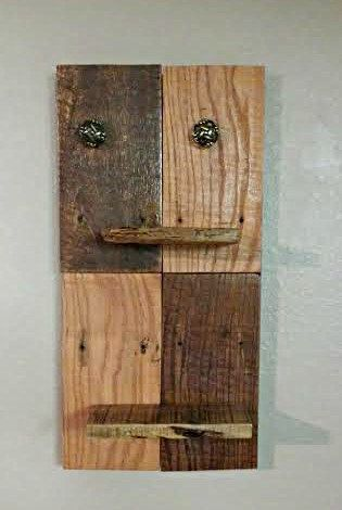 Rustic Pallet Wall Shelf Hickory Wood by MixedImages on Etsy