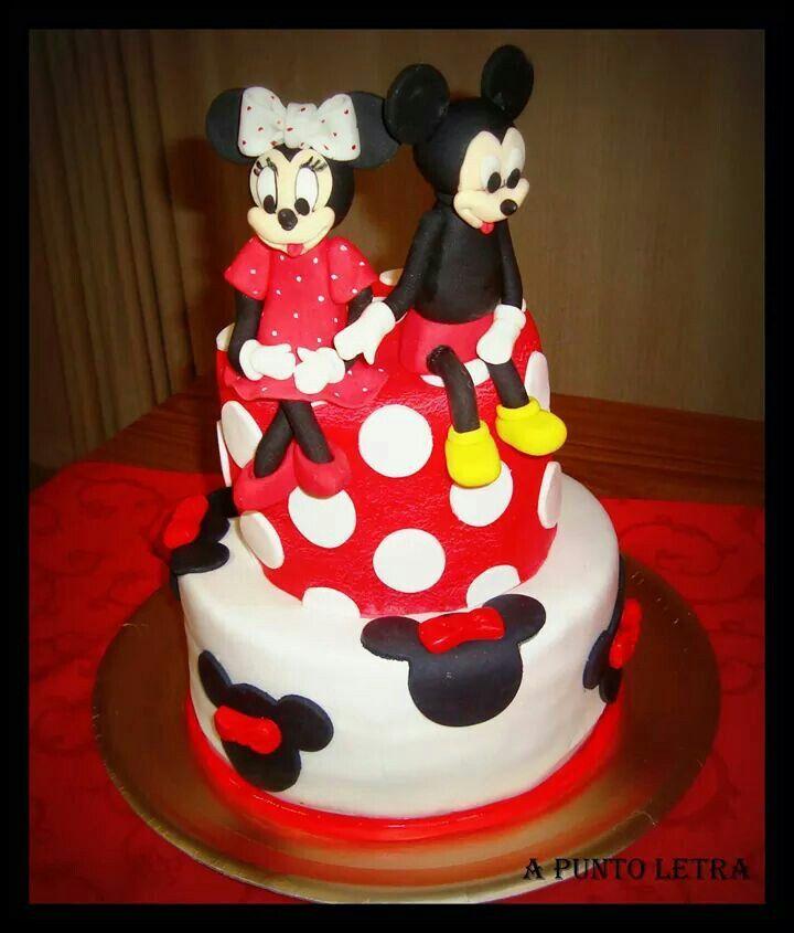 Mickey y Minnie  en rojo y negro
