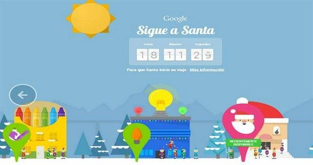 Follow Santa´s Sleigh with Google Santa Tracker
