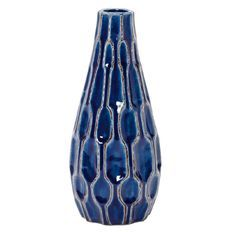 Living & Co Ceramic Vase 22cm Blue