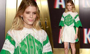 She's a New York Fashion Week fixture. And on Saturday, Kate Mara was spotted at Saks Fifth Avenue's bash. The 34-year-old showed off her toned legs in a lacy green and white dress.