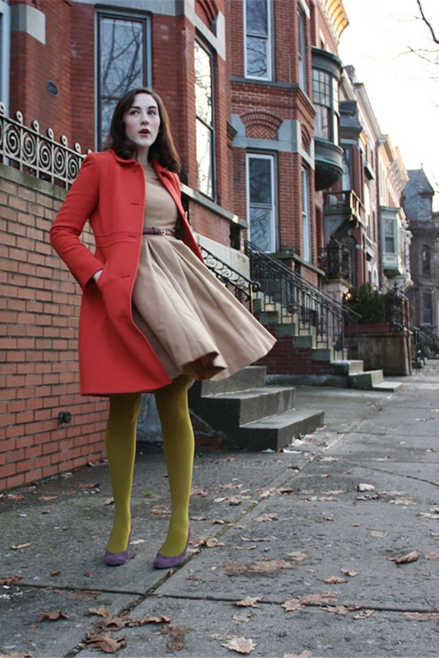 Red + tan + olive. AMAZING. I need to find these colors for myself.