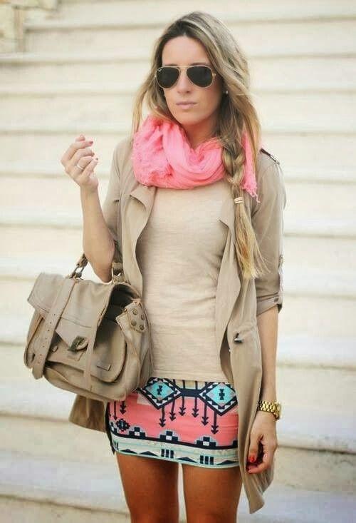 combinacion de beige y rosado muy femenino