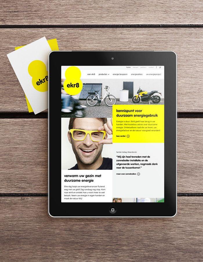 ekr8 - Website met CMS | by Skinn Branding Agency