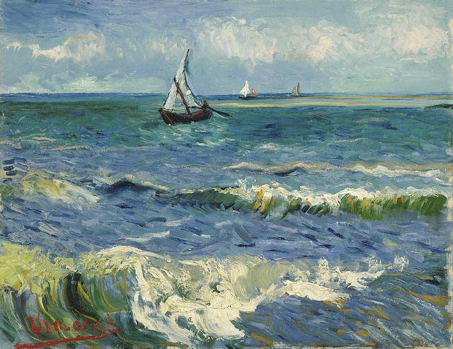 Vincent van Gogh - Seascape near Les Saintes-Maries-de-la-Mer [1888]