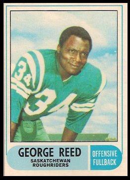 George Reed 1968 O-Pee-Chee CFL football card