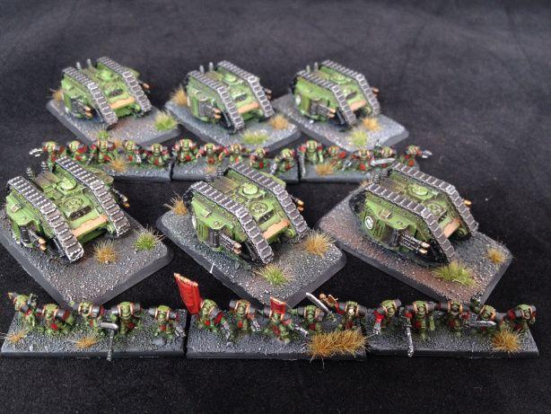 Salamander Land Raider Armoured Proteus with Terminators