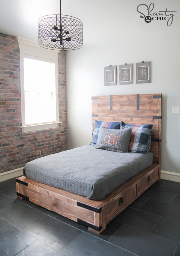 Diy Full Or Queen Size Storage Bed Queen Size Storage Bed Diy Bed Frame Bed Frame With Storage
