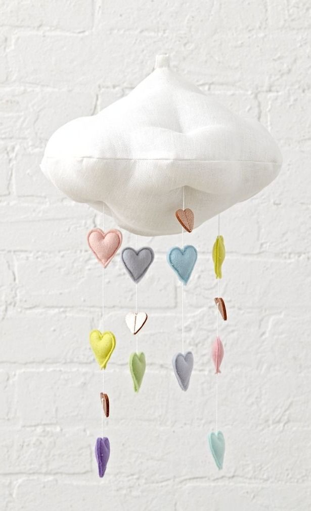 Baby Accessories Shop Cloud & Heart Baby Mobile.  Unlike ordinary storm clouds, this dreamy c...