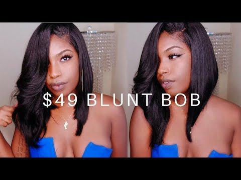 AFFORDABLE BLUNT BOB LACE FRONT WIG | Friday Night Hair - YouTube