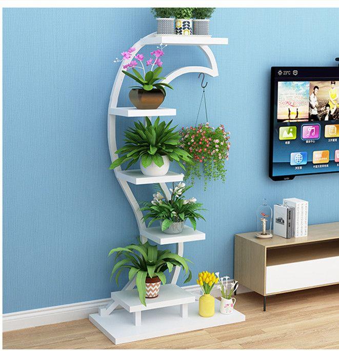 Chic Indoor Flower Rack Organizer Plant Decor Indoor Plant Shelves Plant Decor Decorative pots for living room