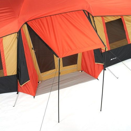 Ozark Trail 10 Person 3 Room Vacation Tent With Shade Awning Family Tent Camping Tent Family Tent