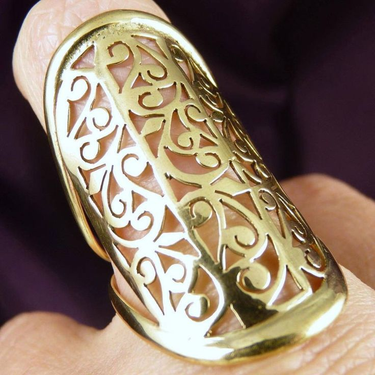 US 7 1/4 * Brass  Jali  SilverSari Art Ring * Handcrafted by Silversmith (#18)