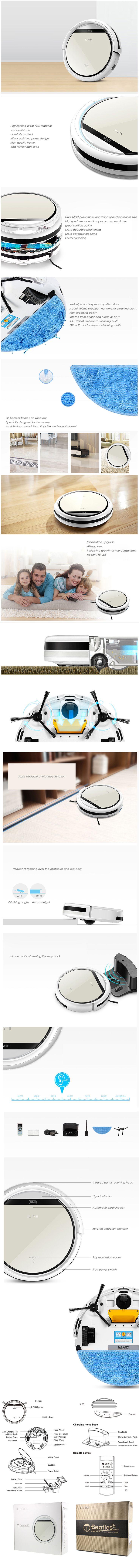 Smart Household Mute Floor Robot Sweeper Vacuum Cleaner