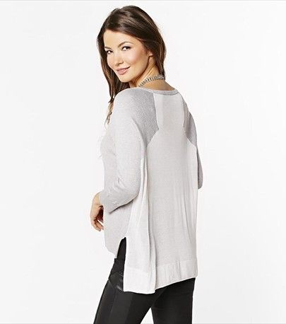You'll love this soft & light sheer back sweater!
