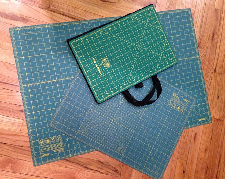 Cutting mats come in all sizes, so measure the space you work in the most.  Find out all about cutting mats here at National Sewing Circle.