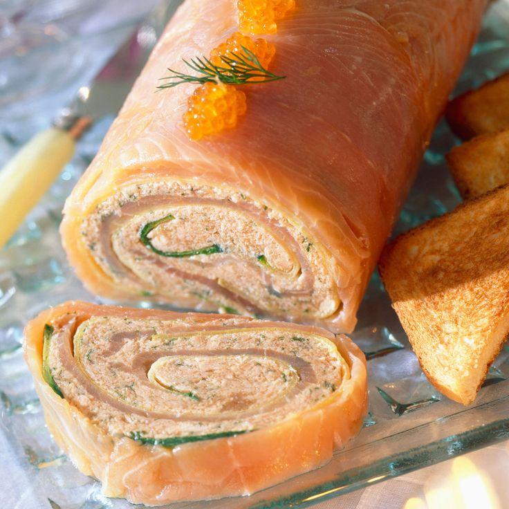 Découvrez la recette Bûchettes de saumon aux crevettes sur cuisineactuelle.fr.