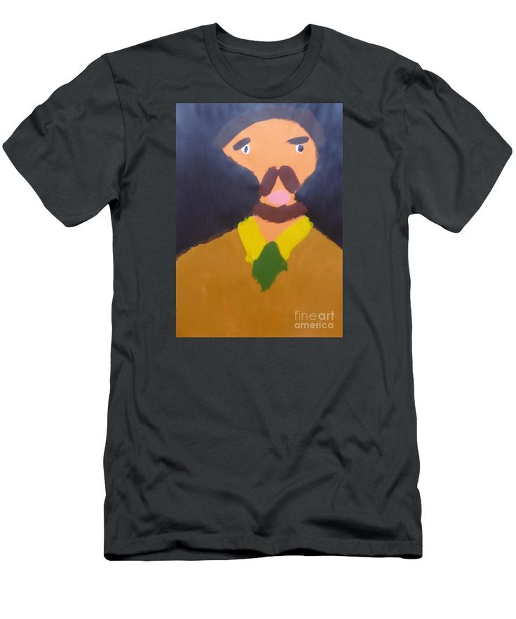 Patrick Slim Fit T-Shirt featuring the painting Portrait Of Eugene Boch 2015 - After Vincent Van Gogh by Patrick Francis