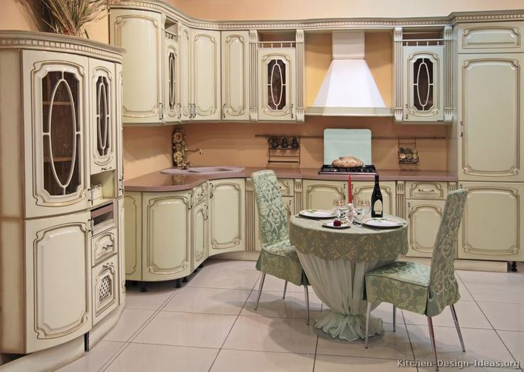 Pictures Of Kitchens   Traditional   Off White Antique Kitchen Cabinets  (Page Part 46