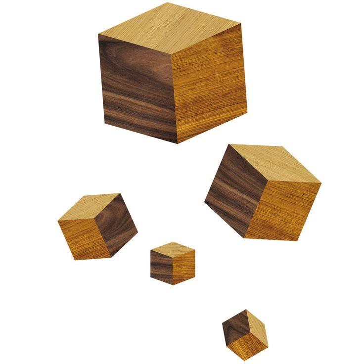 Vintage Domestic Touche du Bois Cubes Wandsticker Jetzt bestellen unter https moebel ladendirekt de dekoration wandtattoos wandtattoos uid udecff ba