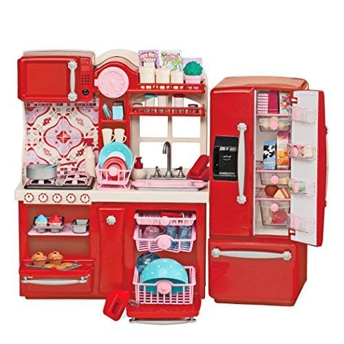 Toy kitchen sets our generation gourmet kitchen you for Doll kitchen set