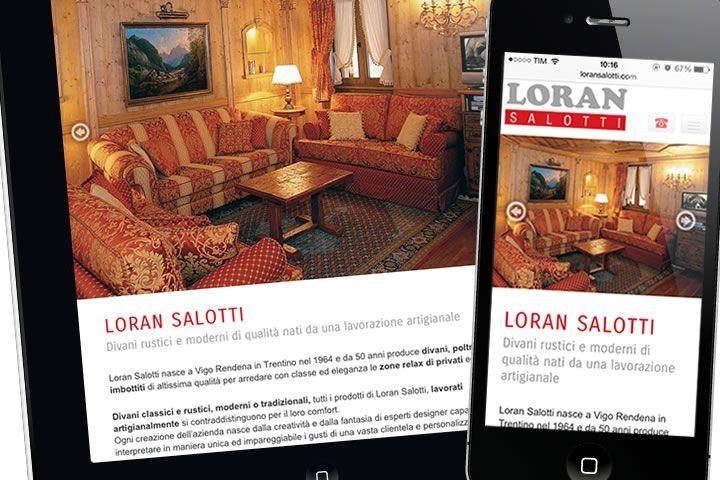 Realizzazione sito web vetrina Loran Salotti - Vigo Rendena.