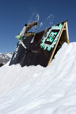 Wall Ride - Val d'Isere Park, France.