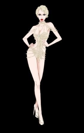 """costume sketches for the movie """"Burlesque"""""""