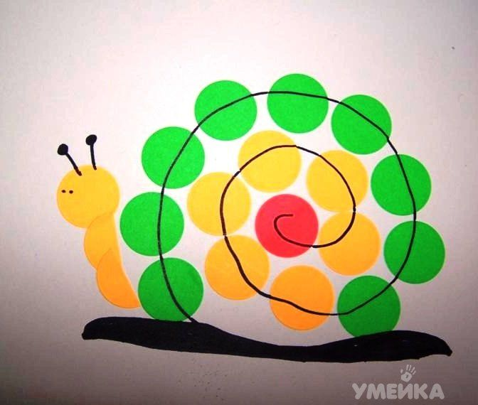 Картинки из кружков для детей, днем