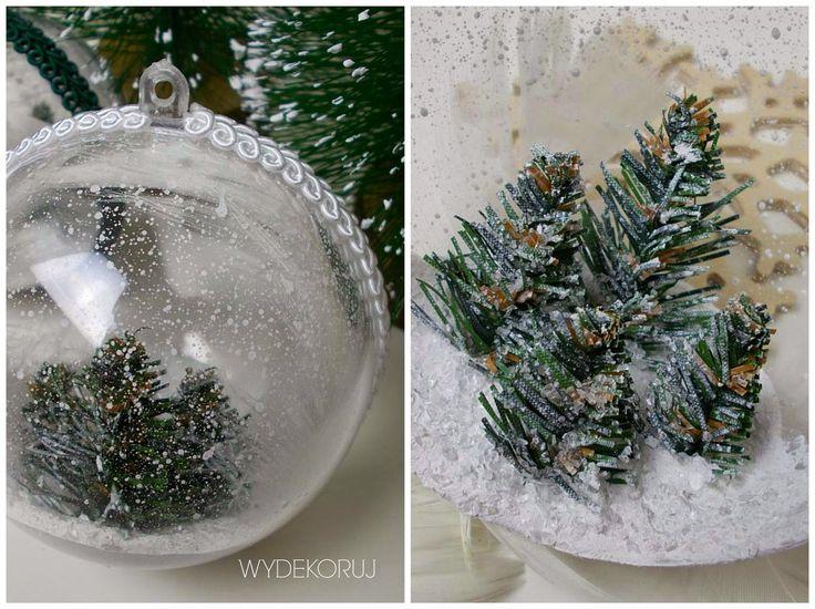 WYDEKORUJ - DIY DEKORACJE INSPIRACJE: Śniegowe bombki 3D/ Snow bauble 3D