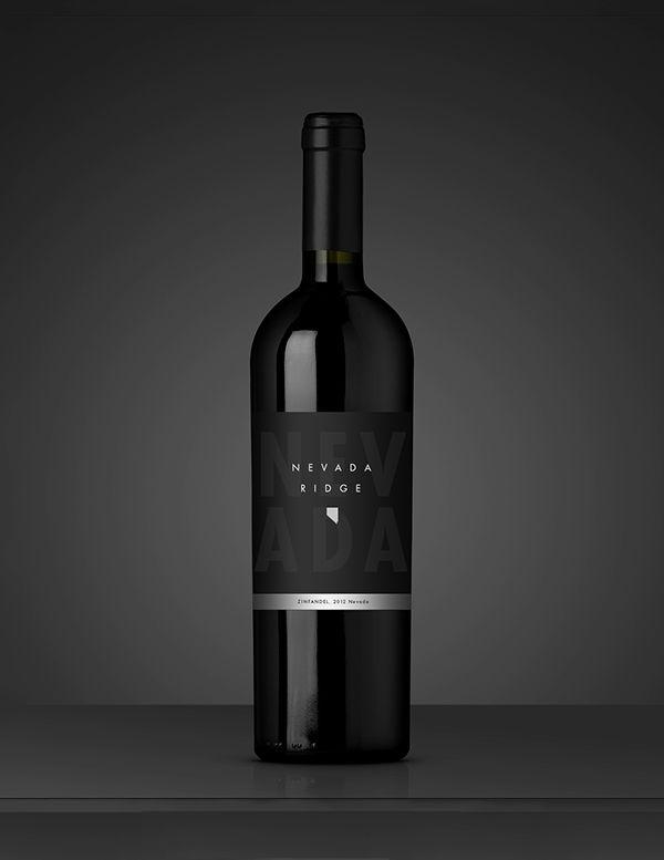 Nevada wine label design on Behance
