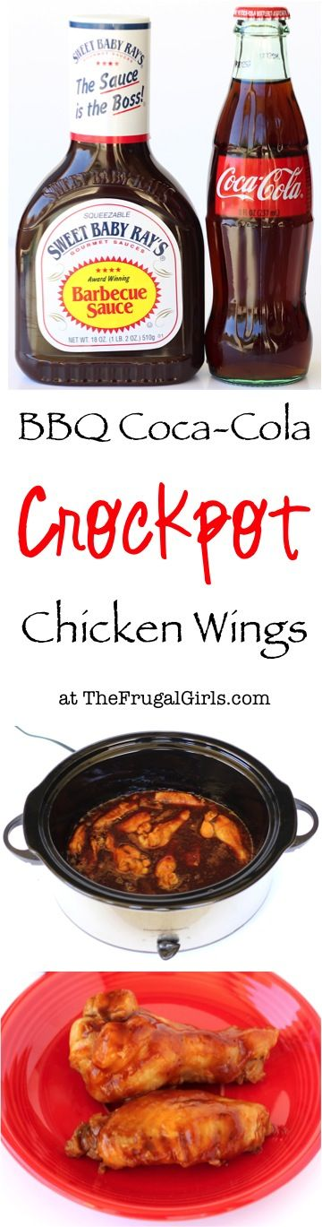 Crockpot Barbecue Coca-Cola Wings Recipe! ~ from TheFrugalGirls.com ~ give your chicken a delicious makeover with this EASY and crazy delicious Barbecue Wings recipe!  Just 3 ingredients!!  #slowcooker #recipes #thefrugalgirls